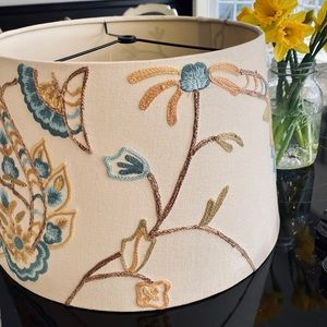 Pottery barn embroidered lampshade